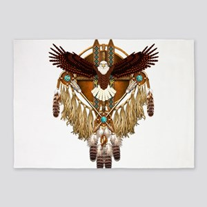 Bald Eagle Mandala 5'x7'Area Rug
